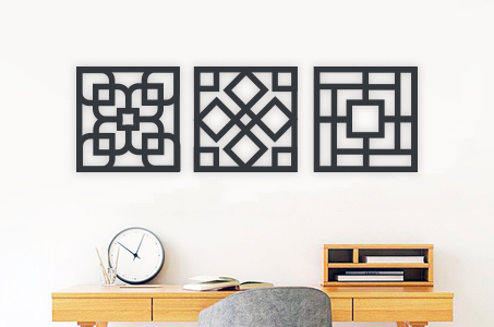 3 square wall art