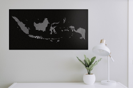 indonesia map wall art